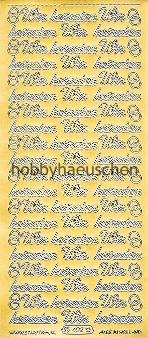 Starform Schrift-Sticker WIR HEIRATEN