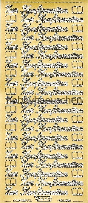 Starform Schrift-Sticker ZUR KONFIRMATION