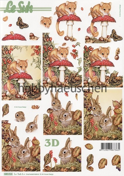 Le Suh 3D Step-by-Step-Stanzbogen HERBST