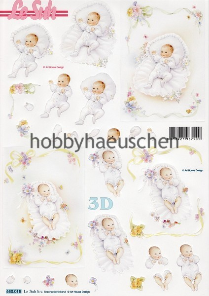 Le Suh 3D Step-by-Step-Stanzbogen BABY