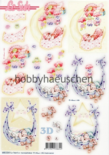 Le Suh 3D Step-by-Step-Stanzbogen BABY (2)