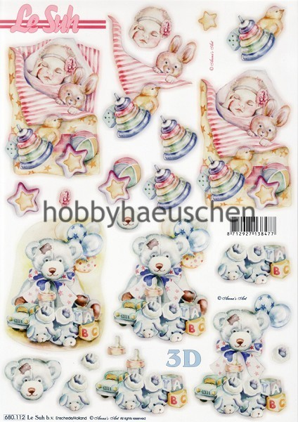 Le Suh 3D Step-by-Step-Stanzbogen BABY (3)