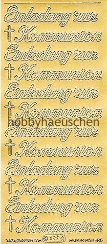 Starform Schrift Sticker EINLADUNG ZUR KOMMUNION Große Schrift