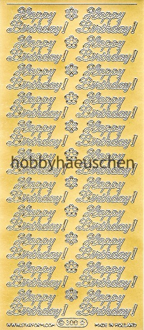 Starform Schrift-Sticker HAPPY BIRTHDAY