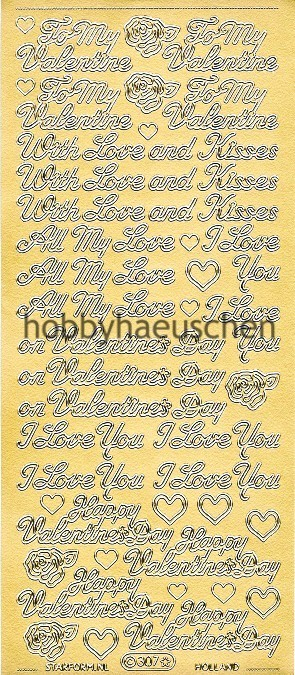 Starform Schrift-Sticker VALENTINE'S DAY