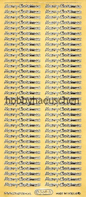 Starform Schrift-Sticker Mini-Text MERRY CHRISTMAS