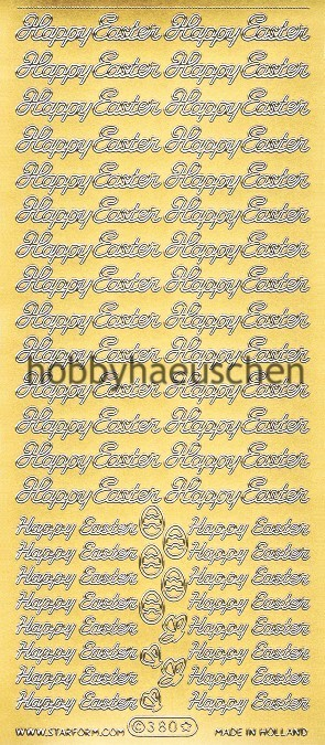 Starform Schrift-Sticker HAPPY EASTER