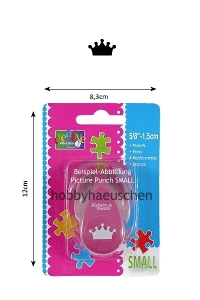 creative collection Picture Punch® SMALL Motivstanzer KRONE (CROWN)