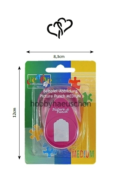 creative collection Picture Punch® MEDIUM Motivstanzer HERZEN (HEARTS)