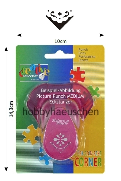 creative collection Picture Punch® Corner Punch MEDIUM Eckstanzer BLUMEN-ORNAMENT (TULIP)