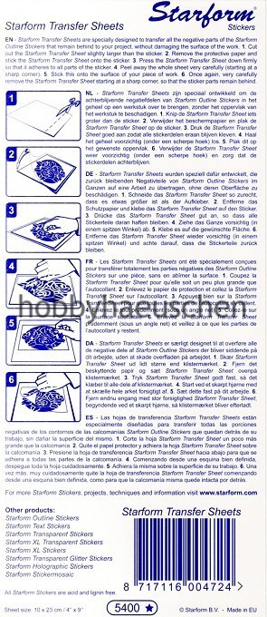 Starform Transfer Sheet transparente Transfer-Folie, 1 Bogen