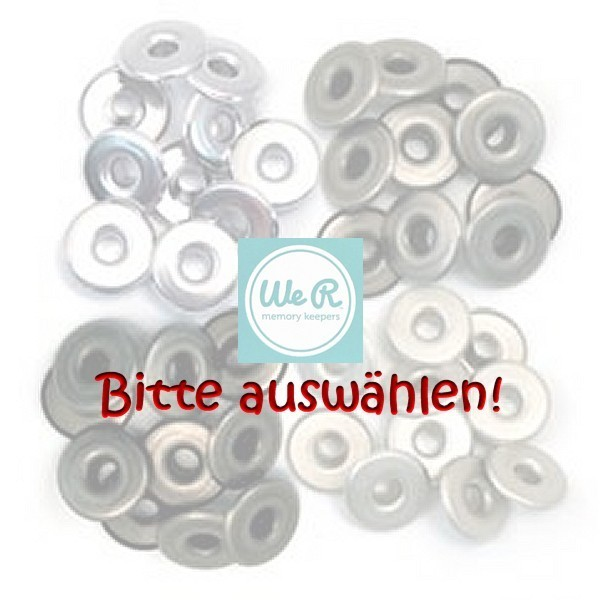 We R Memory Keepers WIDE Eyelets RUND 3/16 Zoll, 32 oder 40 Stück