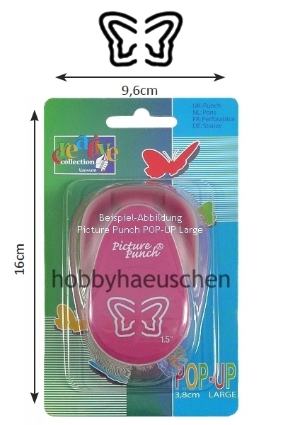 Picture Punch® 3D POP-UP LARGE Punch Motivstanzer SCHMETTERLING (BUTTERFLY)
