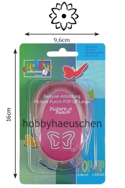Picture Punch® 3D POP-UP LARGE Punch Motivstanzer BLUME (FLOWER)