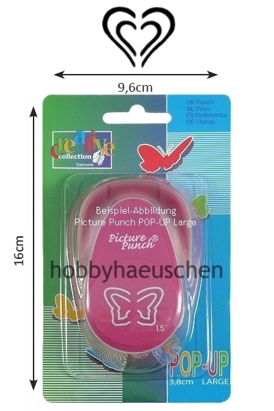 Picture Punch® 3D POP-UP LARGE Punch Motivstanzer HERZ (HEART)