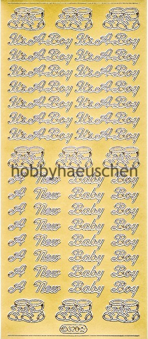 Starform Schrift-Sticker BABY BOY