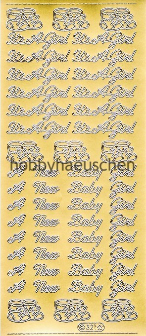 Starform Schrift-Sticker BABY GIRL