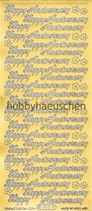 Starform Schrift-Sticker HAPPY ANNIVERSARY