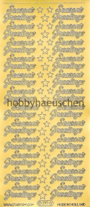 Starform Schrift-Sticker SEASON'S GREETINGS
