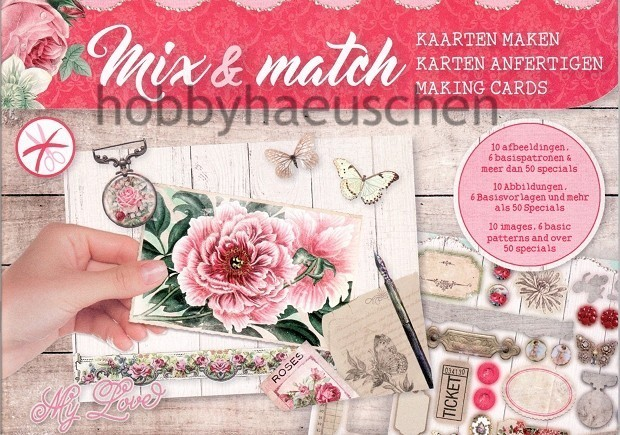 Mix & Match Karten-Bastelheft VINTAGE FLOWERS (2)