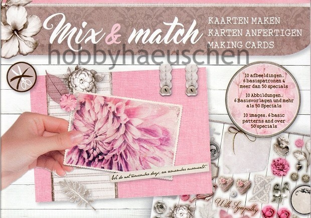 Mix & Match Karten-Bastelheft VINTAGE FLOWERS