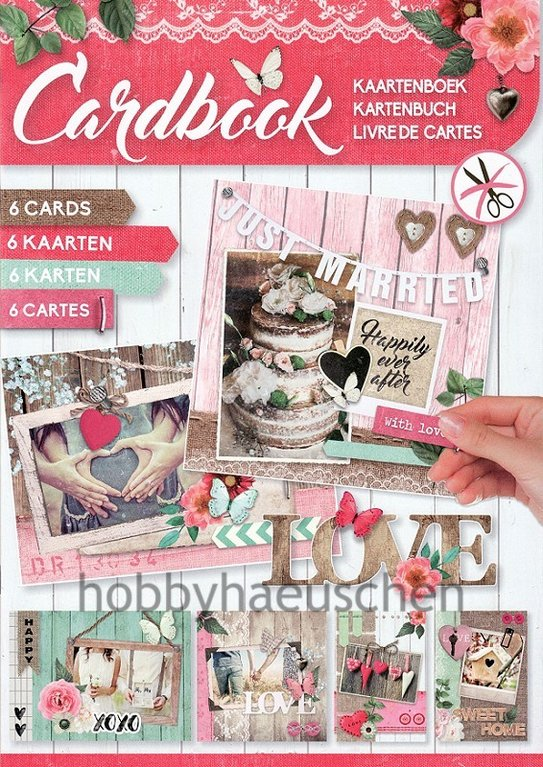 StudioLight Cardbook Karten-Bastelheft LOVE