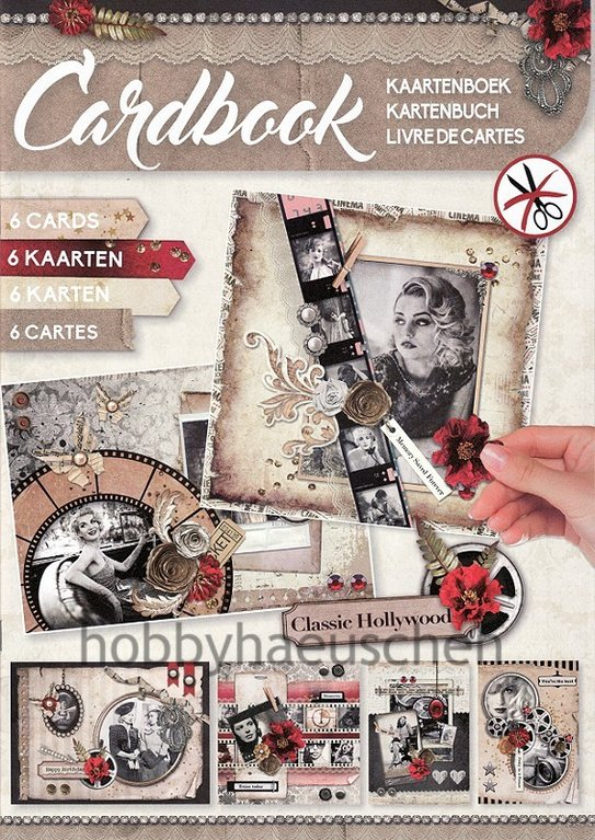 StudioLight Cardbook Karten-Bastelheft CLASSIC HOLLYWOOD