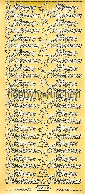 Starform Schrift-Sticker HAPPY CHRISTMAS