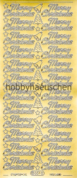 Starform Schrift-Sticker MERRY CHRISTMAS