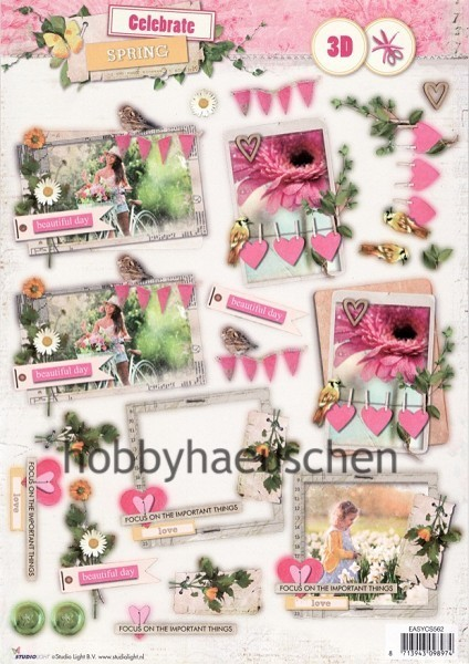StudioLight 3D Step-by-Step-Stanzbogen CELEBRATE SPRING