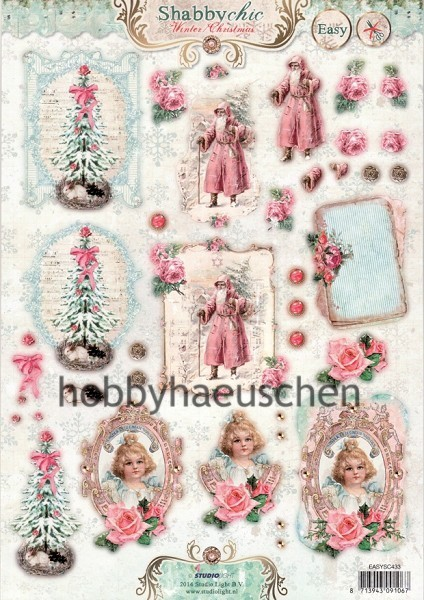StudioLight 3D Step-by-Step-Stanzbogen SHABBY CHIC Winter/Christmas (2)