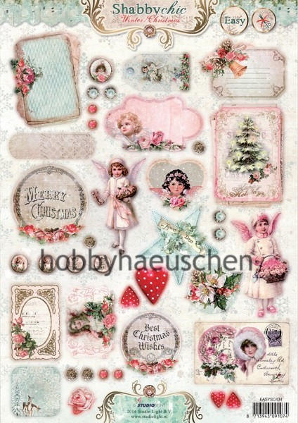 StudioLight Stanzbogen Deko-Motive SHABBY CHIC Winter/Christmas