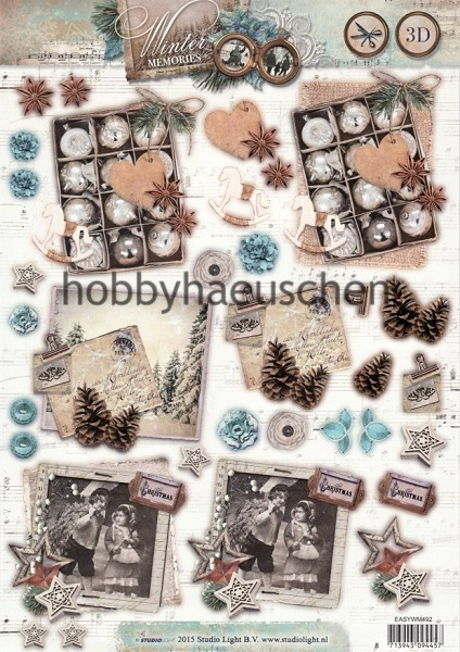 StudioLight 3D Step-by-Step-Stanzbogen WINTER MEMORIES (2)
