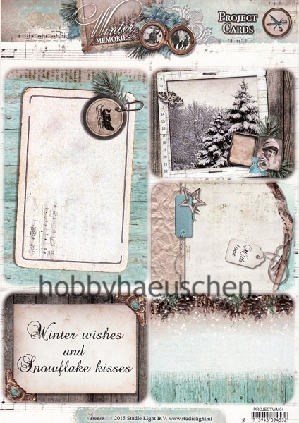 StudioLight Stanzbogen Project Cards WINTER MEMORIES (2)