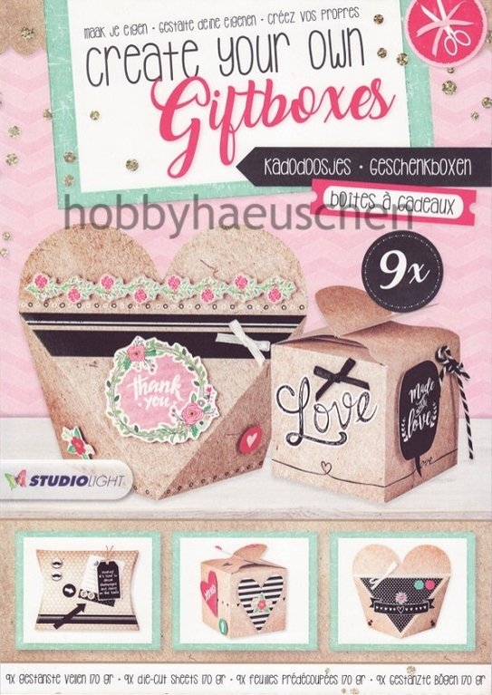 StudioLight Stanzblock für 9 Geschenkschachteln CREATE YOUR OWN GIFTBOXES (1)