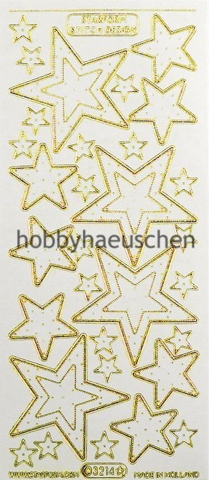 Starform Stitch Design Sticker STERNE