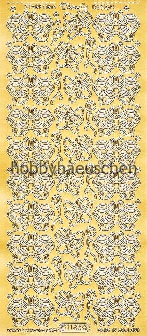Starform Doodle Design Sticker SCHNÖRKEL-SCHMETTERLINGE (2)