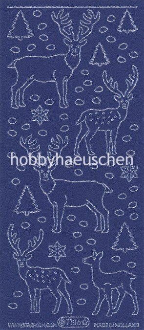 Starform VELVET Sticker HIRSCHE