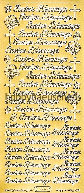 Starform Schrift-Sticker EASTER BLESSINGS