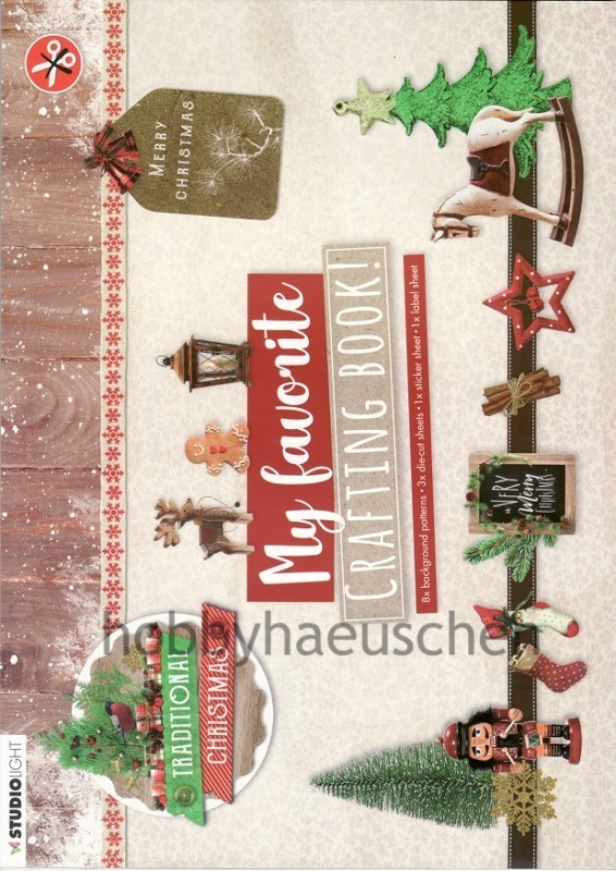 StudioLight My favorite CRAFTING BOOK! Bastelblock TRADITIONAL CHRISTMAS